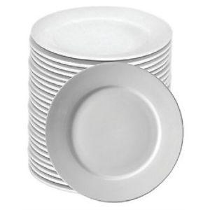 """12"""" White Rimmed Varick Plates"""