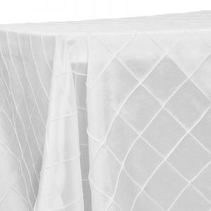 White PIintuck 90x132 Rectangular Tablecloth