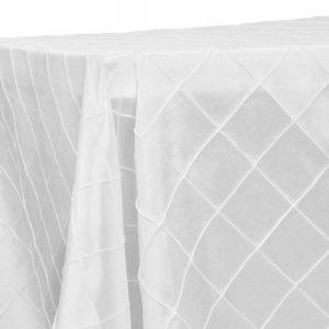 White PIintuck 90x132 Rectangular Tablecloth