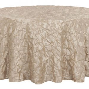 Champagne Pinchwheel Round Tablecloth