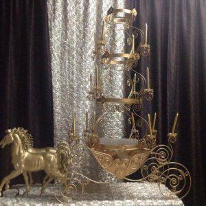 Gold Cinderella Cake Stand
