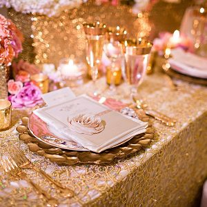 Chemical Lace Overlay Table