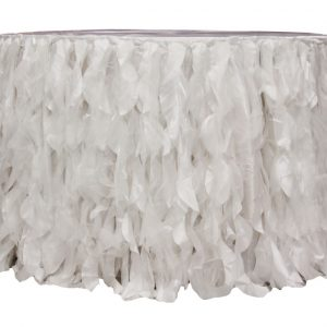white curly willow tableskirt