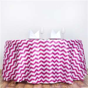 "SNR EVENT RENTAL 120"" Round Jazzed Up Chevron Tablecloth 2499"