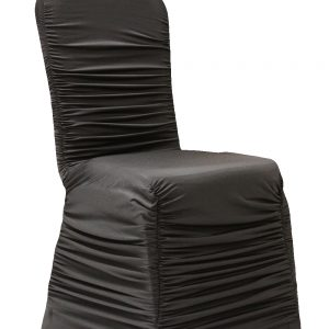 Black Ruched Banquet Chair