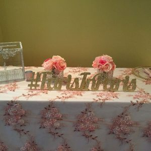 Blush Pink Overlay Tablecloth
